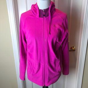 North Face | Fleece Zip Front Jacket, Pink, Sz L